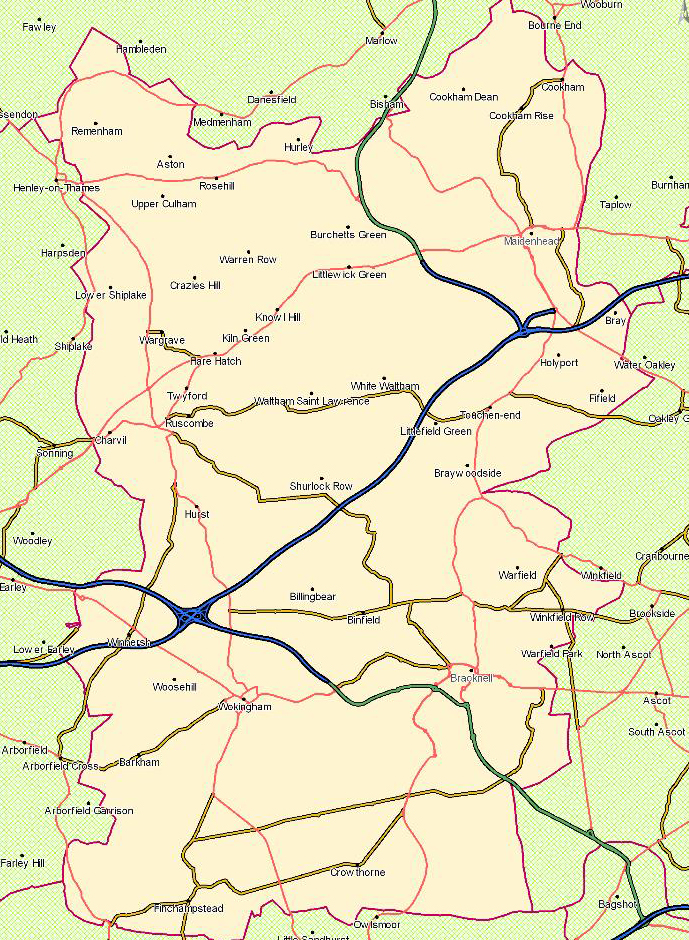 RSPCA Maidenhead Branch Map