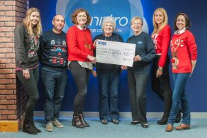 Receiving the wonderful cheque from Venntro Windsor